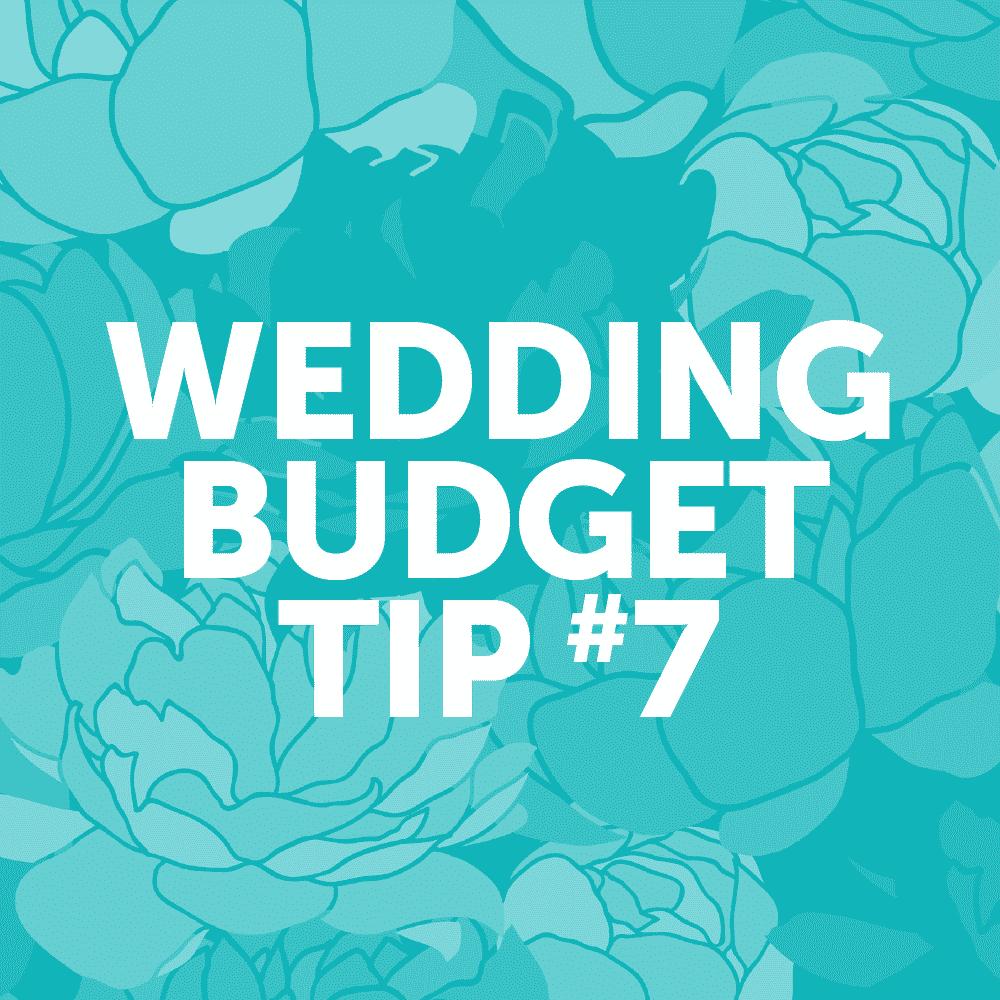 Wedding Budget Tip #7: Choose a simple cake design.