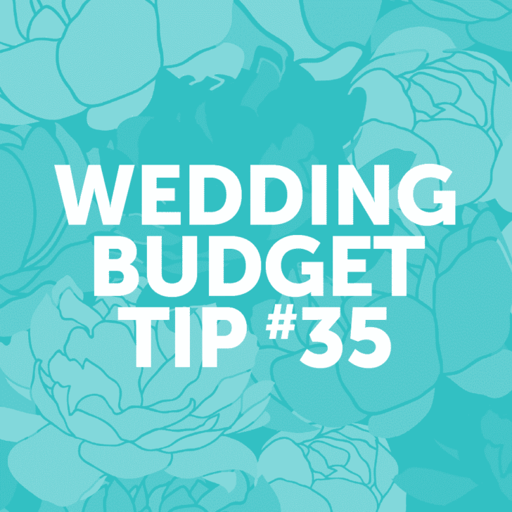 Wedding Budget Tip #35: Remember to factor in the cost of rentals.