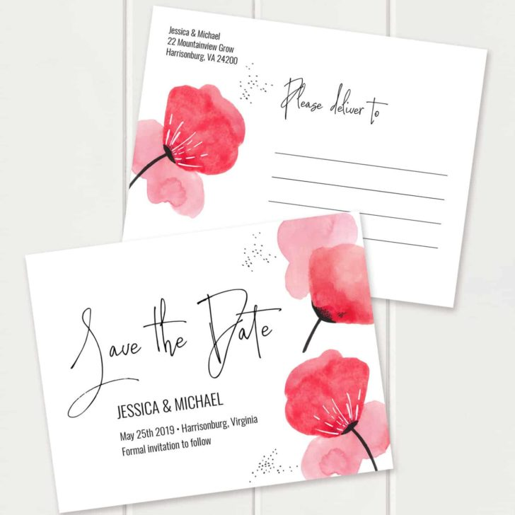 Printable Save the Date design by MyCrayonsDesign on Etsy
