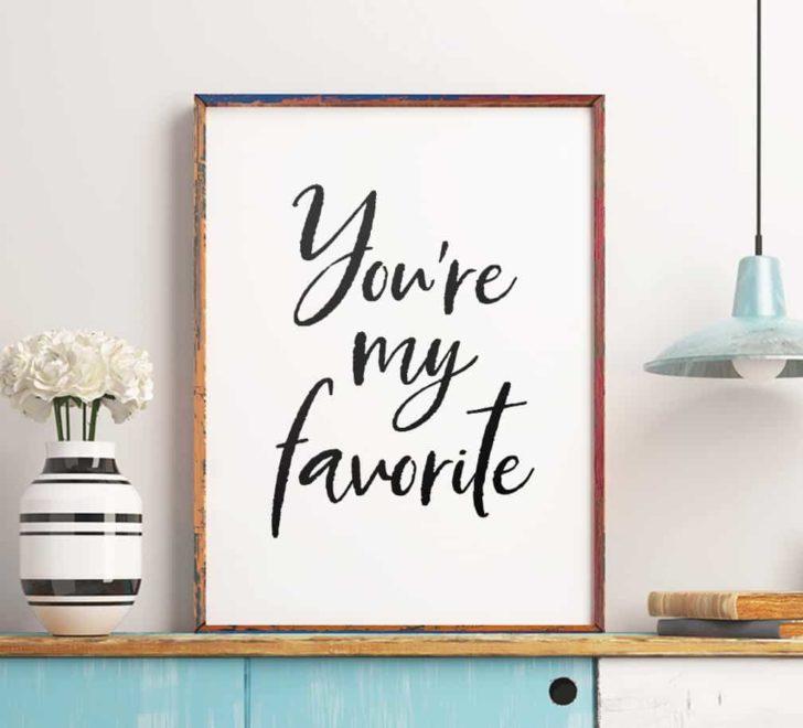 youre my favorite printable wall art