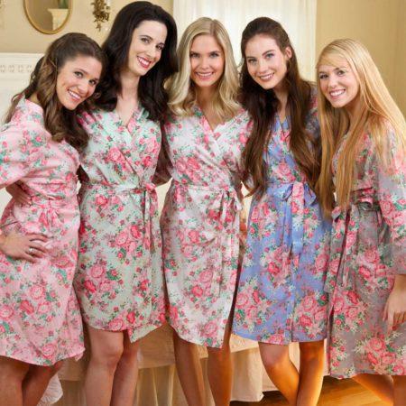 Floral Print Robes