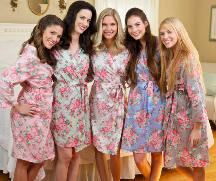 Bridesmaids Floral Robes from The Paisley Box