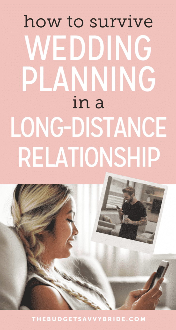how to survive wedding planning in a long distance relationship