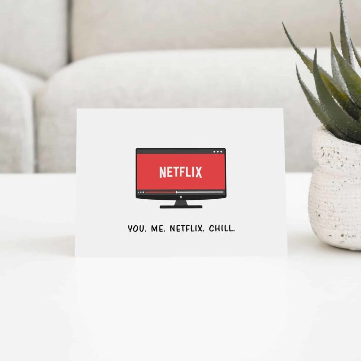 Netflix and Chill Printable Valentine's Day Card