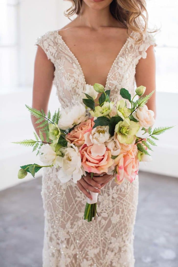 cameron bridal bouquet something borrowed blooms
