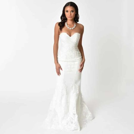 Strapless Mermaid Bridal Gown