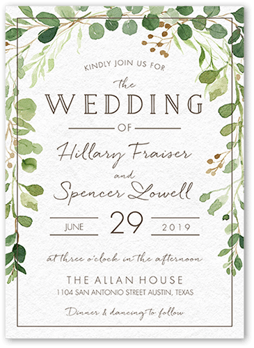 Botanical Union Wedding Invitation