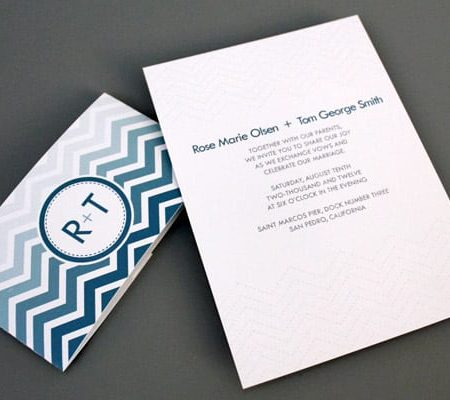 DIY CHEVRON WEDDING INVITATIONS FROM DOWNLOAD AND PRINT