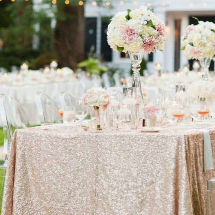 amazon wedding decor - full sequin table cloth