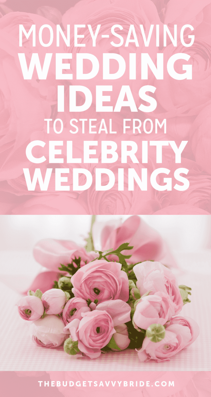 money saving ideas from celebrity weddings