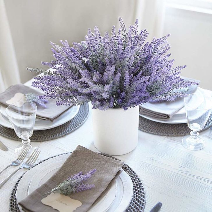 amazon wedding decor - faux lavender