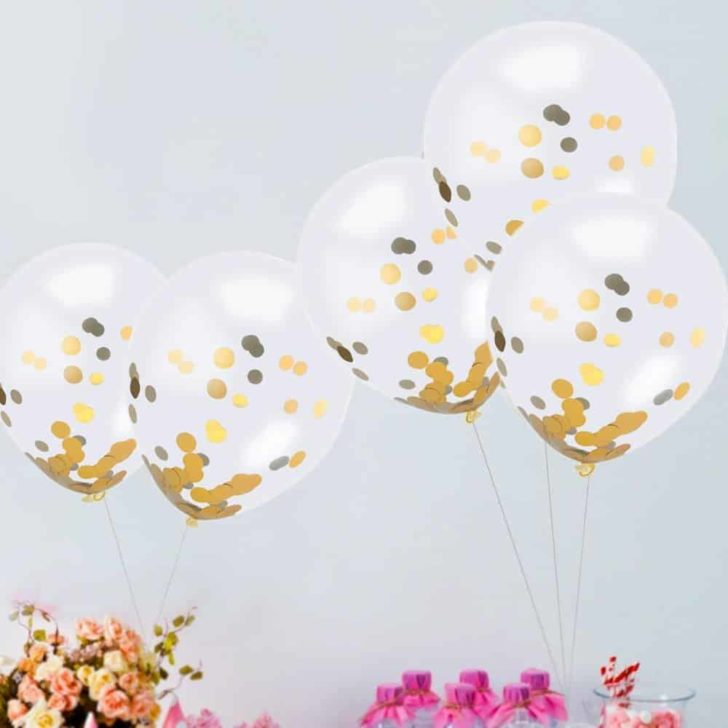 amazon wedding decor - glitter balloons