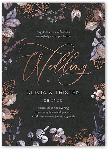 Gleaming Garden Wedding Invitation