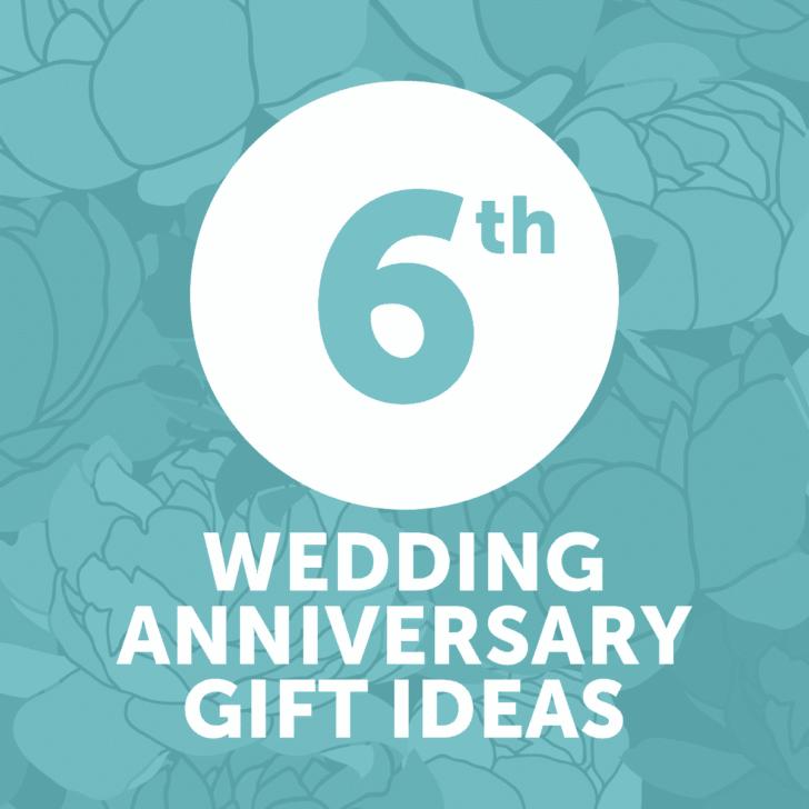 sixth wedding anniversary gift ideas - year 6