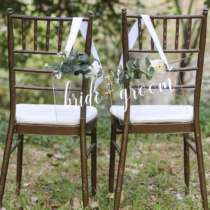 amazon wedding decor - bride and groom signs