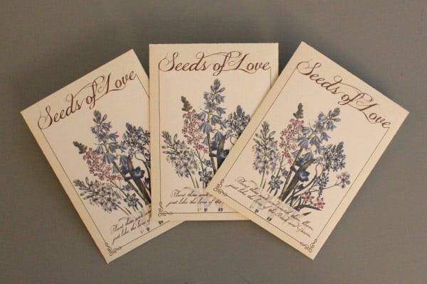 DIY Wedding Seed Packet Favors