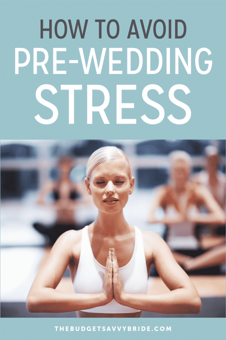 how to avoid pre-wedding stress