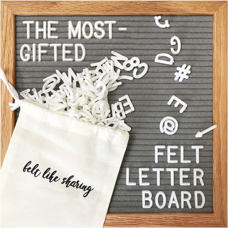 amazon wedding decor - felt letterboard signs