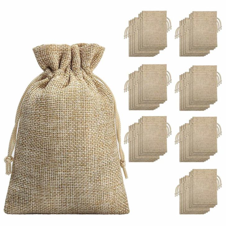 amazon wedding decor - burlap favor bags