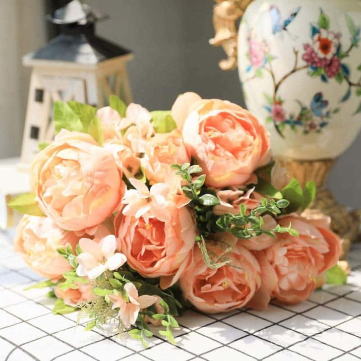 amazon wedding decor - faux peonies
