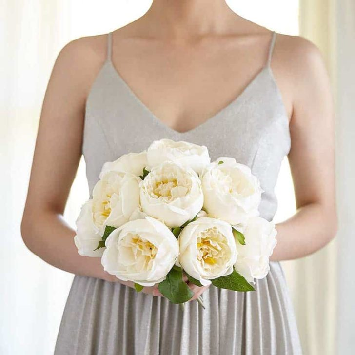 amazon wedding decor - silk peonies