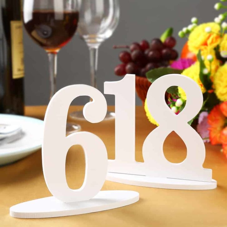 amazon wedding decor - oaintable table numbers
