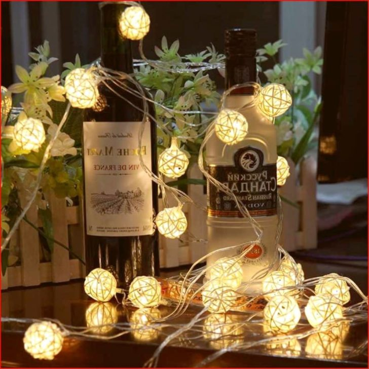 amazon wedding decor - Globe Rattan Ball String Lights