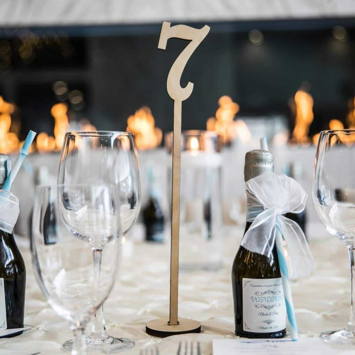 amazon wedding decor - tall wooden table numbers