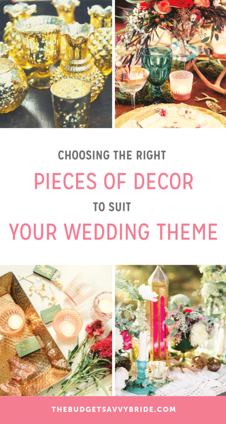decor to suit your wedding theme