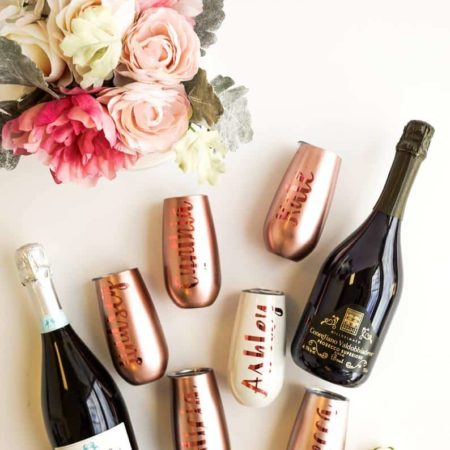 Bridesmaid Stemless Champagne Glasses