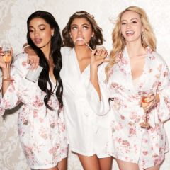 floral bridal party robes ICING