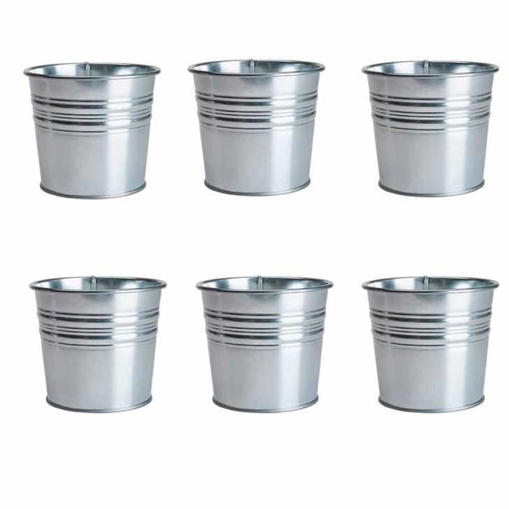 amazon wedding decor - galvanized buckets - ikea
