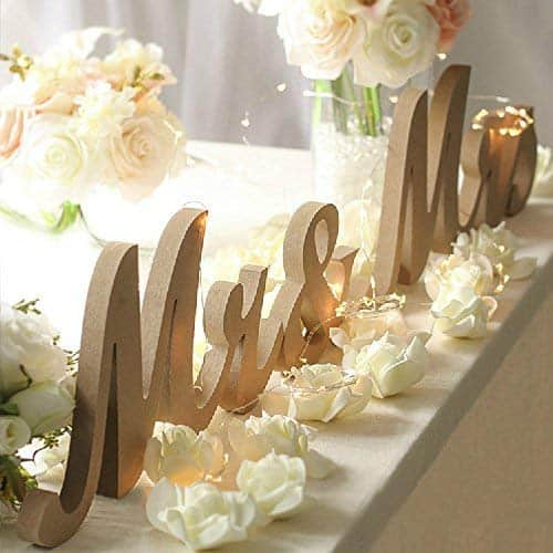 amazon wedding decor - mr and mrs sign