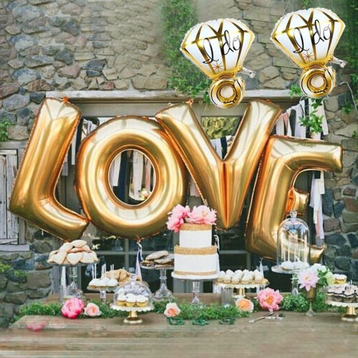 amazon wedding decor - love balloons