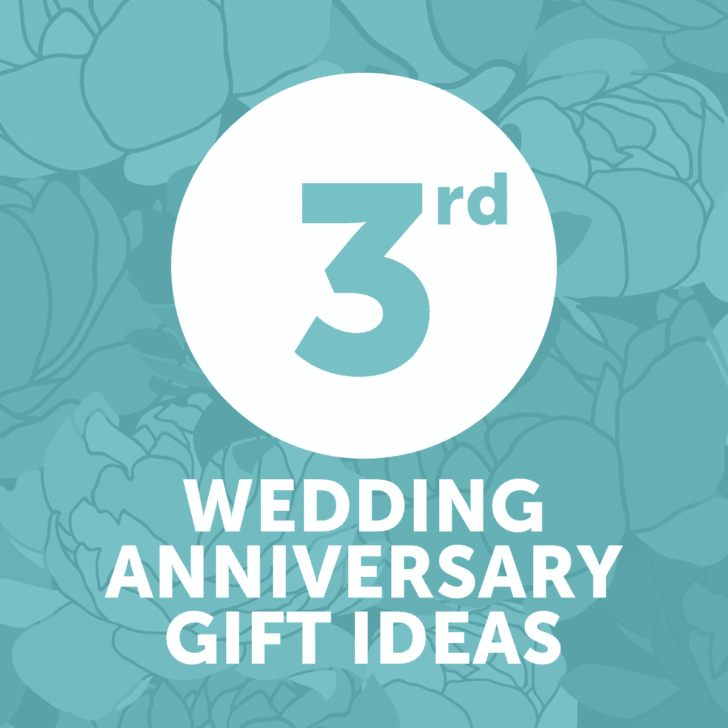 third wedding anniversary gift ideas - year 3