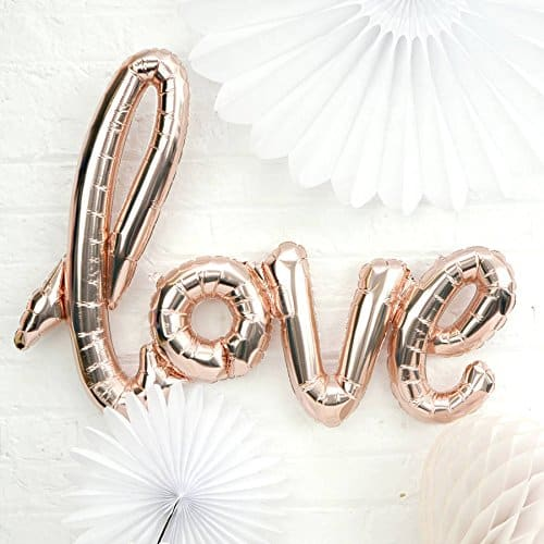 amazon wedding decor - love balloons 1