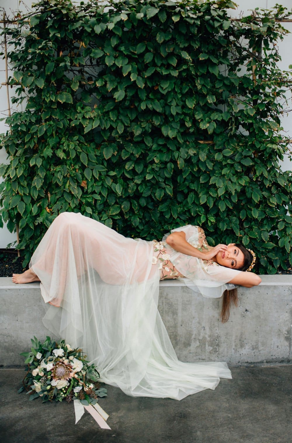 Winter's Sage Inspired Styled Shoot