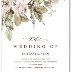 Rose Bouquet Wedding Invitation