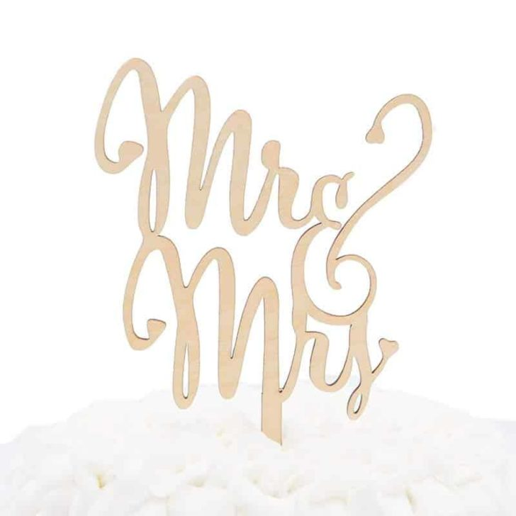 amazon wedding decor - cake topper mr mrs