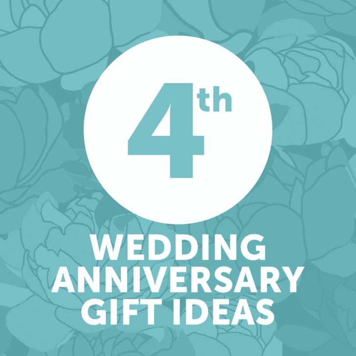 fourth wedding anniversary gift ideas - year 4