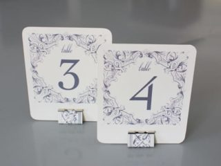 DIY Binder Clip Table Number DIY