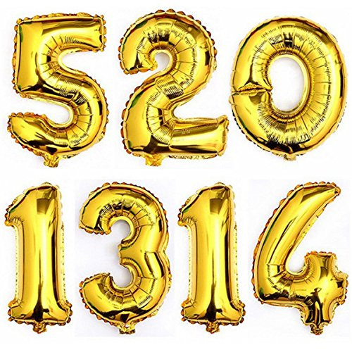 amazon wedding decor - gold balloon numbers