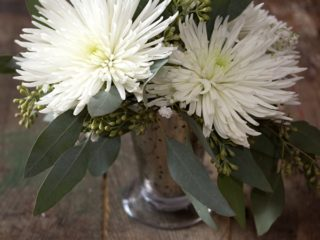 Blooms on a Budget Spider Mums, Baby's Breath, Seeded Eucalyptus