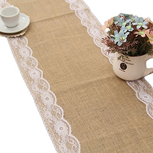 amazon wedding decor - burlap table runner
