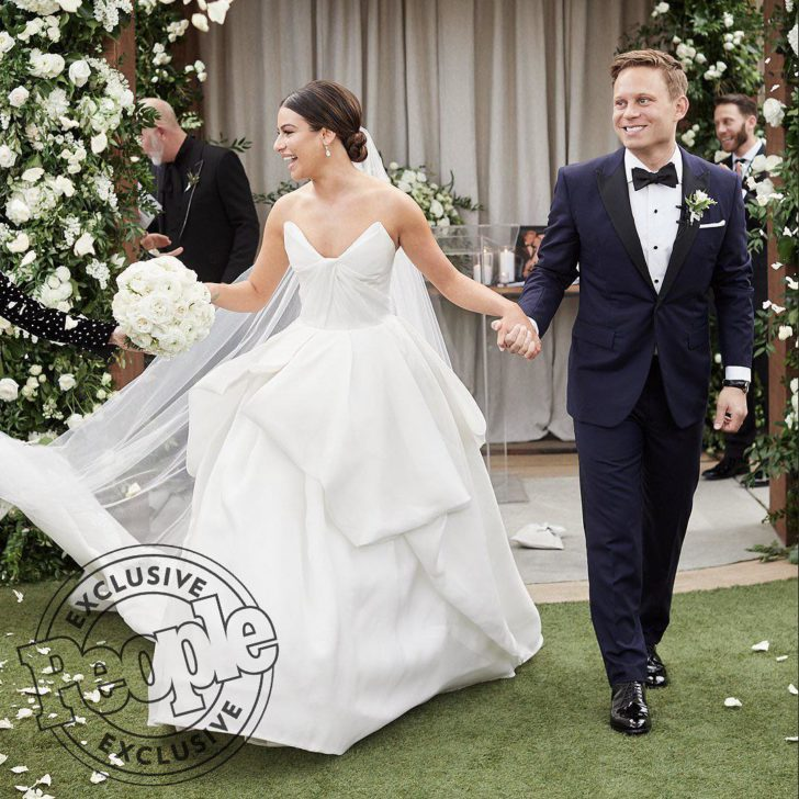 Lea Michele Wedding Photo
