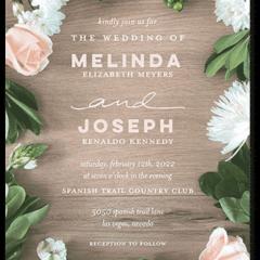 Floral Bounds Wedding Invitation