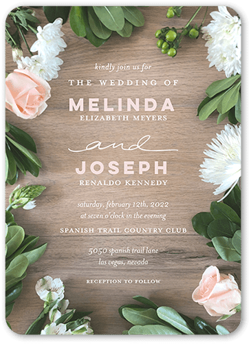 Floral Bounds Wedding Invitation