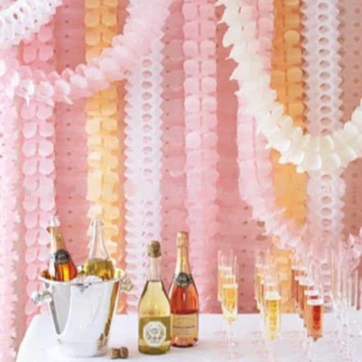 amazon wedding decor - tissue streamers
