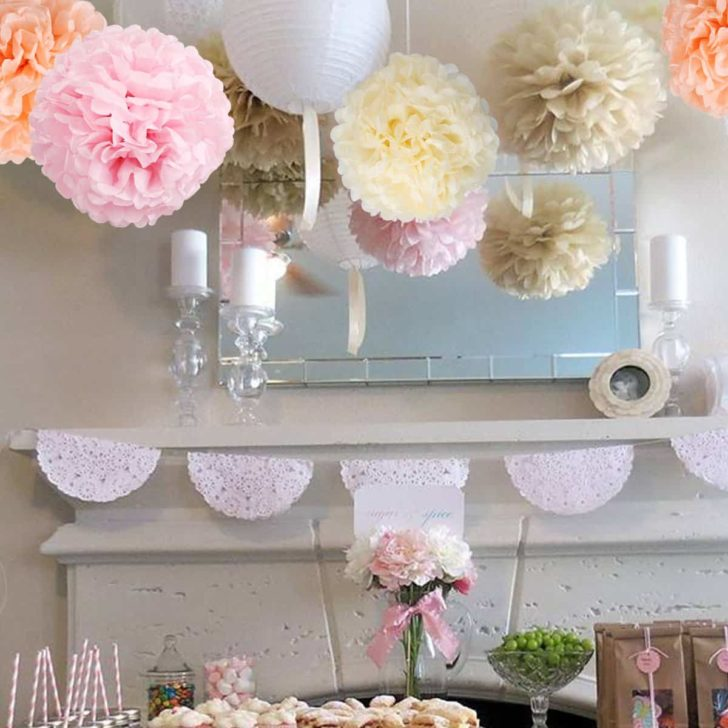 amazon wedding decor - tissue flower poofs