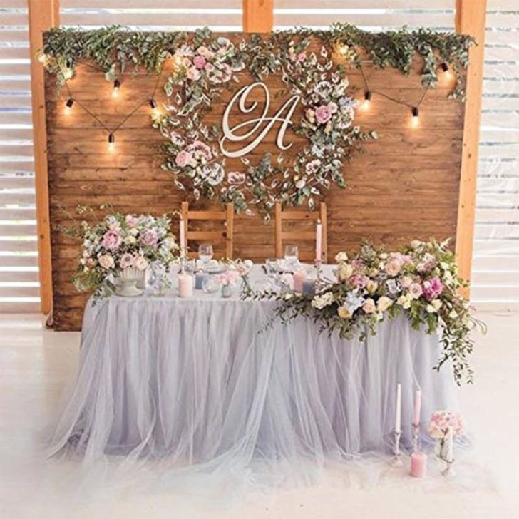 amazon wedding decor - tulle table skirt